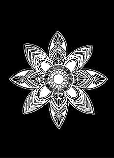 Premium vector Black And White Mandala Art | Modern Art Wooden Frame | Pen Sketch Drawing | Painting for Wall, Living Roo...
