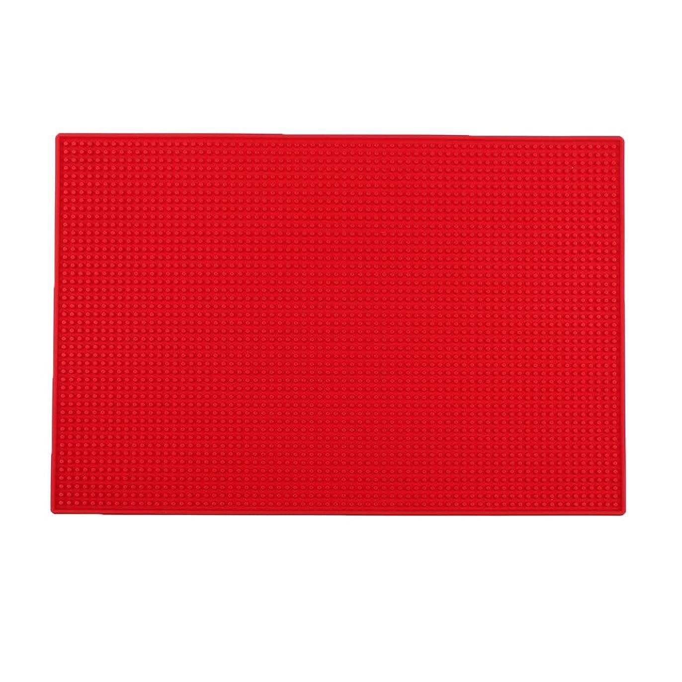 ベジタリアン僕のマンハッタンB Blesiya クッション シリコンマット ネイルアートツール 全3色 - 赤