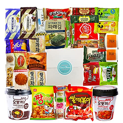 Journey of Asia 'Seri's Choice KOREAN Snack' Box 36 Count Individual Wrapped Essentials Packs of Candy, Snacks, Chips, Cookies, Treats for Kids, Children, College Students, Adult and Senior