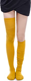 Women's Wool Over Knee High Socks Leg Warmer Winter Crochet Stocking
