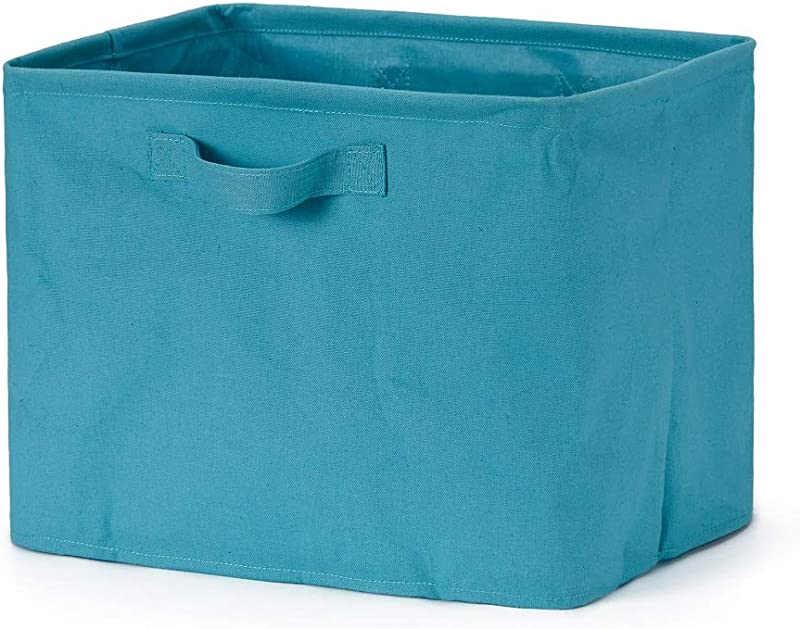 Every Deco Collapsible Fold Able Rectangular Storage Gift Basket Bin Cotton Handles Organize Laundry Clothes Toys Baby Nursery Children Kids 14 56 X 11 X 11 Teal