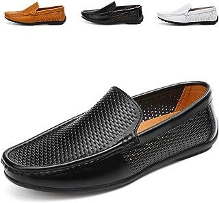 AARDIMI Hommes Doux Cuir en Grains Divisés Mocassins de Conduire Confort Penny Loafers Chaussons Chaussure Bateau