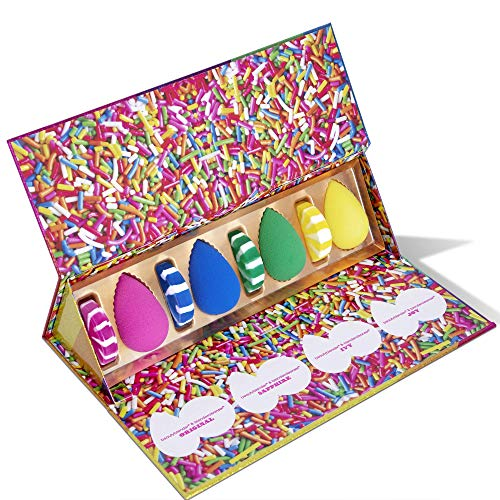 BEAUTYBLENDER Limited Edition Sweet Indulgence Sampler Set with 4 Makeup Sponges for Foundations, Powders & Creams with 4 Solid blendercleansers