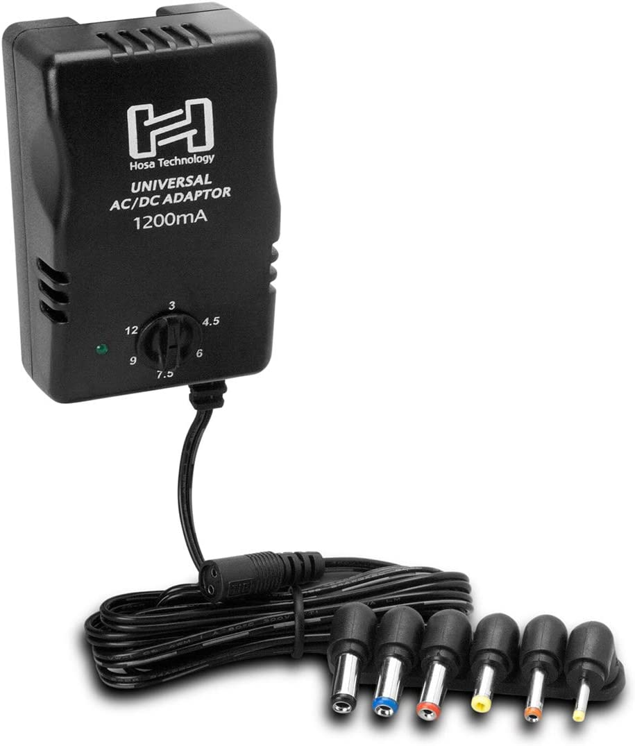 Hosa ACD-477 Universal Power Adaptor with DC Output up to 12V