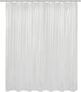 Barossa Design Clear Shower Curtain Liner 82 Width by 74 Height with Free Hooks, Waterproof, PVC Free, Metal Grommets Curtain PEVA 6G