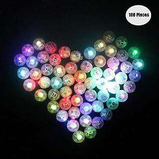 Meerveil 50pcs Multi-color/é LED Lampe de Lampe Ballons Mini Ballon Rond Lumineux Flash Lampes pour Papier Lanterne Balloon Anniversaire F/ête De No/ël D/écoration de La Maison /Éclairage