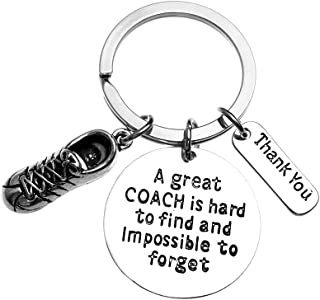 Infinity Collection Track Coach Keychain, Running Coach Gifts, Great Coach is Hard to Find Coach Keychain