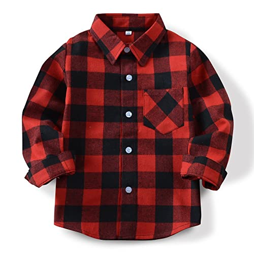 Tortor 1Bacha Little Boys colorful Check Long Sleeve Button Down Shirt