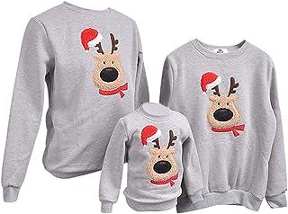 de534e7fe0be9 Pull Noel Famille Pulls De Noël Homme Femme Enfant Garçon Fille Sweat Shirt  Moche Pull Over