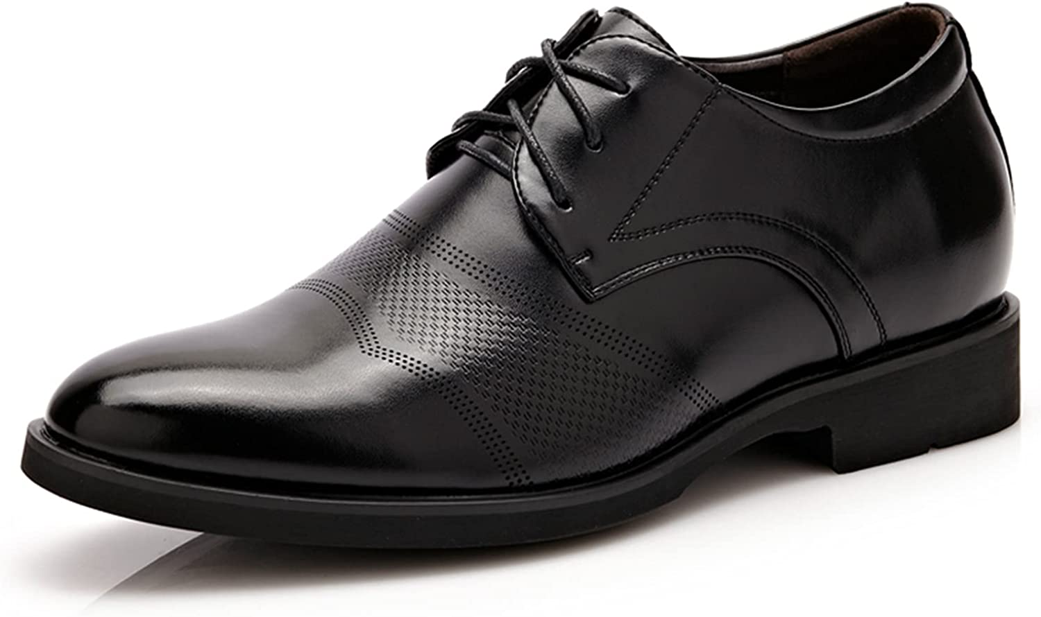 Men's Oxford Business Leather Shoes Casual Breathable Formal Leather Dress Shoes
