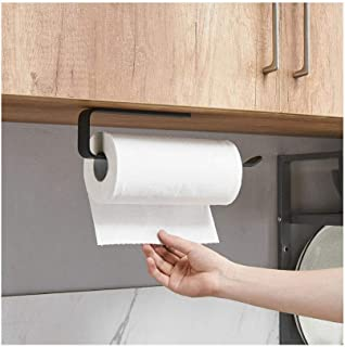 Kitchen Roll Holder Wall Mounted No Drilling, Paper Towel Holder Under Cabinet, Toilet Roll Holder Self Adhesive, Towel Ha...