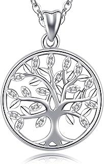CELESTIA Plata de Ley 925 Collares del Árbol de la Vida, Mujer Colgante de la Vida en el árbol con Cadena, Joyas Finas, Re...