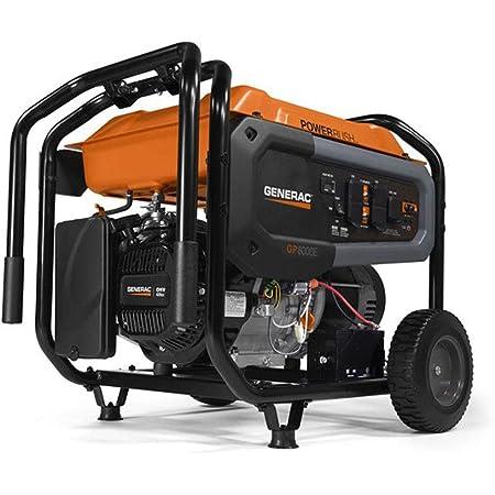 Generac 76861 GP8000E 420 PR 49 St./CAN Portable Generator, Orange, Black