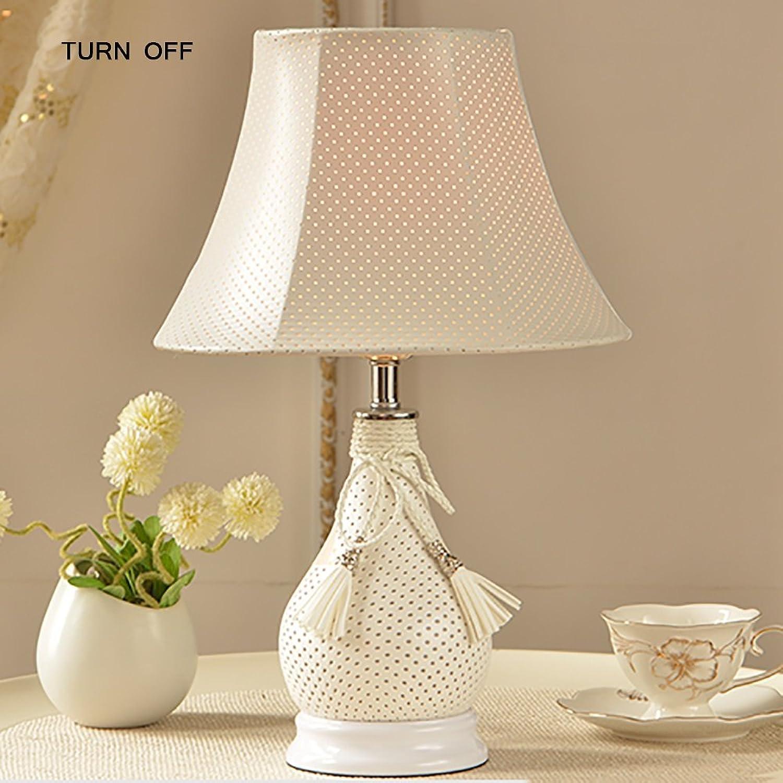 Tischlampe QFFL Moderne einfache Waschbare Leder Schlafzimmer Nachttischlampe Warm Lichter (Farbe   Beige) B078HCZ9GF | Mittlere Kosten