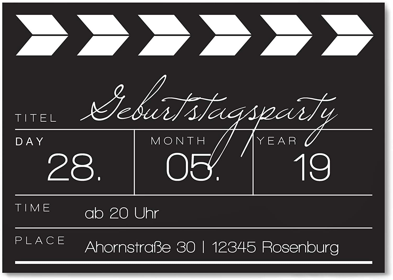 Einladungskarten zum Geburtstag als Filmklappe - Einladung Karte Karte Karte - 40 Stück B01N2PCUOH | Sale Online Shop  71cba7
