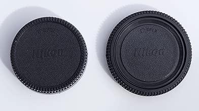 NIKON body cap and Rear Lens Cap, As BF 1A, D40, D40x, D60, D70, D70s, D80, D90, D3200, D3000, D3100, D5000, D5100, D7000, D100, D200, D300, D300s, D700, F6, F5, F65, F75, F80, F90X, F100, D1, D2, D3 Etc.. Also fits Fuji S5 Pro. (Brand New)
