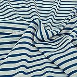 Nadeltraum Baumwoll - Sweat Stoff mit Streifen Motiv in