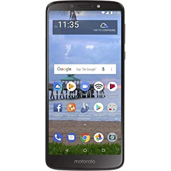 "Moto E5 (2018) 16GB, 2GB 5.7"" Display, 4000 mAh All Day Battery, FM Radio - (GSM+AT&T+Tmobile + Verizon) Factory Unlocked 4G LTE Smartphone - XT1920DL (US Warranty) (Gray)"