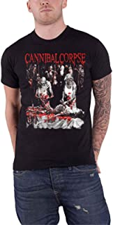 Cannibal Corpse T Shirt Butchered at Birth 2019 Band Logo Official Mens Black Size L
