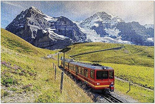 LYBSSG Puzzle Tren turístico eléctrico, Oberland bernés, Suiza Rompecabezas Premium de 1000...