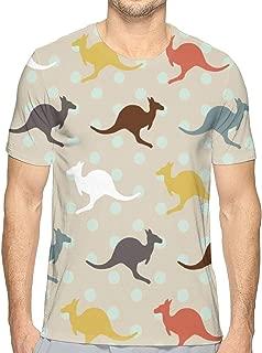 Unisex T-Shirts Fashion 3D Printed Unique Kangaroo Australia Short Sleeve Shirts