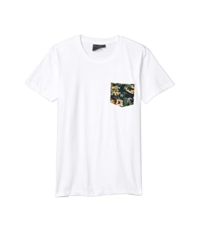 Naked & Famous Pocket Tee (White/Japanese Tigers/Navy) Men