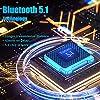 Rpanle Cuffie Bluetooth, Auricolari Bluetooth 5.1 Senza Fili, Controllo Touch, Auricolari Wireless HD Stereo con Microfono per Android iOS Smartphone (Bianca) #4
