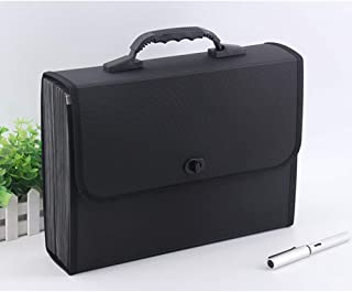 Z-Special Expanding Files Folder A4 US Letter Size Accordion File Organizer Document Briefcase with Handle Briefcase Style Business Portfolio Organizer 26 Pockets