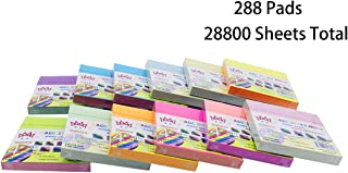 4A Sticky Notes,3 x 3 Inches,Neon Color,Self-Stick Notes,100 Sheets/Pad,12 Pads/Packs,24 Packs,4A 303M-PNx12