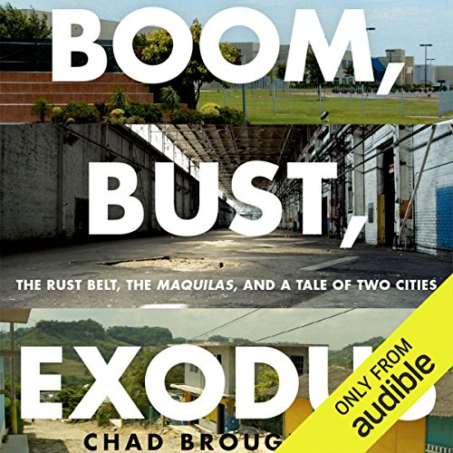 Boom, Bust, Exodus audiobook cover art