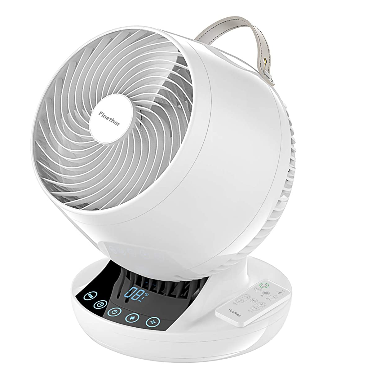 有彩色の単独で代わりにFinether サーキュレーター 首振り 扇風機 3D送風 パワフル 空気循環機 省エネ 送風機 自動首振り 風量12段階調節可能 タイムセール タッチパネル リモコン付き エコモード搭載 操作簡単 8畳/18畳/24畳対応 (ホワイト)