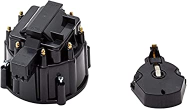 A-Team Performance CR8BK HEI OEM Distributor Cap, Rotor and Coil Cover Kit Black