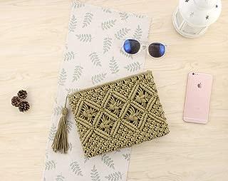 Woman Beach Bag Straw Clutch Women Lady Day Tassels Summer Envelope Bag