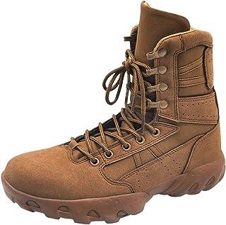 JIAGU Tactique Bottes Militaire d'hiver Haut-Top Outdoor Chaussures Hommes désert Bottes Bottes de Combat (Color : Yellow,...