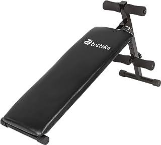 comprar comparacion TecTake 401078 - Banco de Musculación 120x33x63 cm, Pesas Ejercicio Abdominales