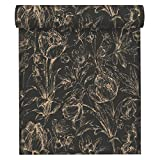 A.S. Création Vliestapete Memory 3 Tapete floral 10,05 m x 0,53 m metallic schwarz Made in Germany 329852 32985-2