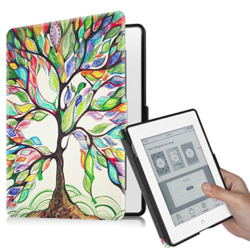 Fintie Case for Nook GlowLight Plus (Previous Gen 6 inch - Barnes & Noble 2015 Model BNRV510) Case, Premium PU Leather Slim Cover, NOT Fit 7.8 Inch 2019 New Version, Love Tree