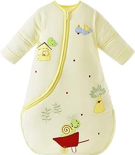 Chilsuessy Śpiwór niemowlęcy zimowy z odpinanym długim rękawem, watowany, dla małych dzieci, całoroczny śpiwór, piżama, dl...