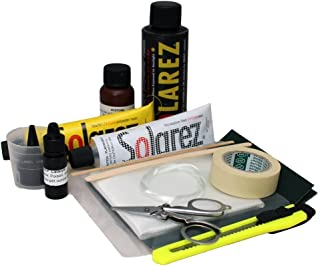 SOLAREZ UV Cure Polyester Pro Travel Kit - Original Surfboard Repair Kit ~ Fastest FIX! Cures with The Sun! for Surf Boards, Wakeboards ~ Eco-Friendly, Made in The USA!