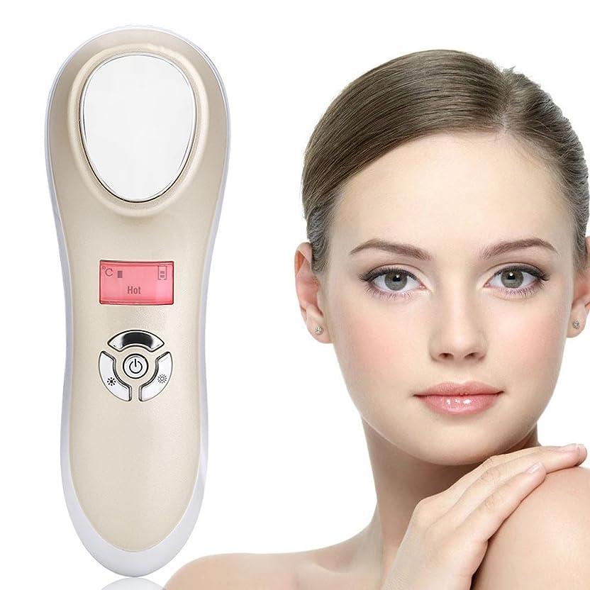 さておきバイバイ阻害する美の器械、携帯用手持ち型の音波再充電可能なイオン顔のマッサージャーの熱くそして冷たい機械スキンケア装置