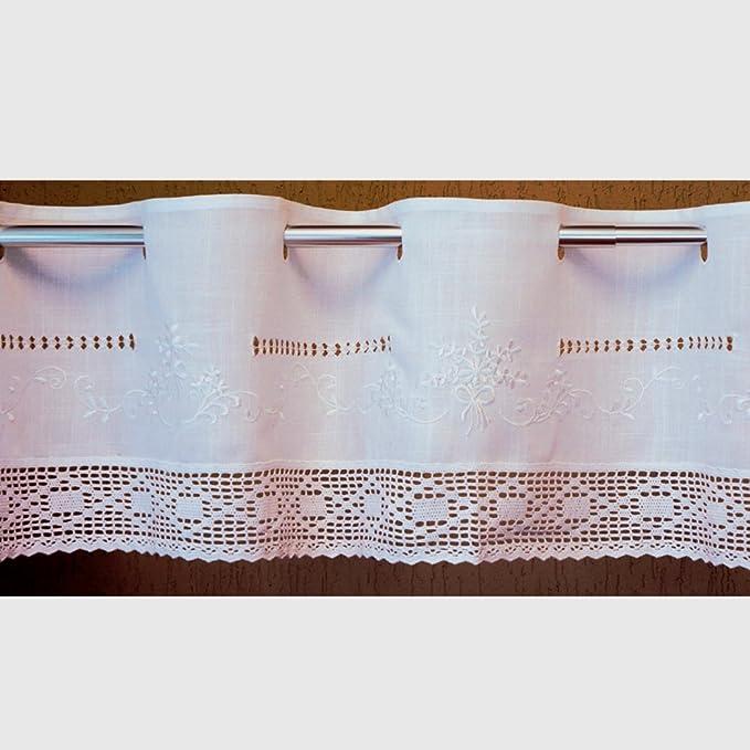 Scheibengardine Gänseblümchen Stickerei Gardine 40//50//70 hoch