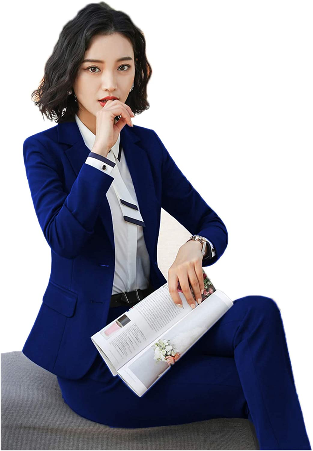 JYDress Women's Stylish Office Pants Suit Elegant Formal Set