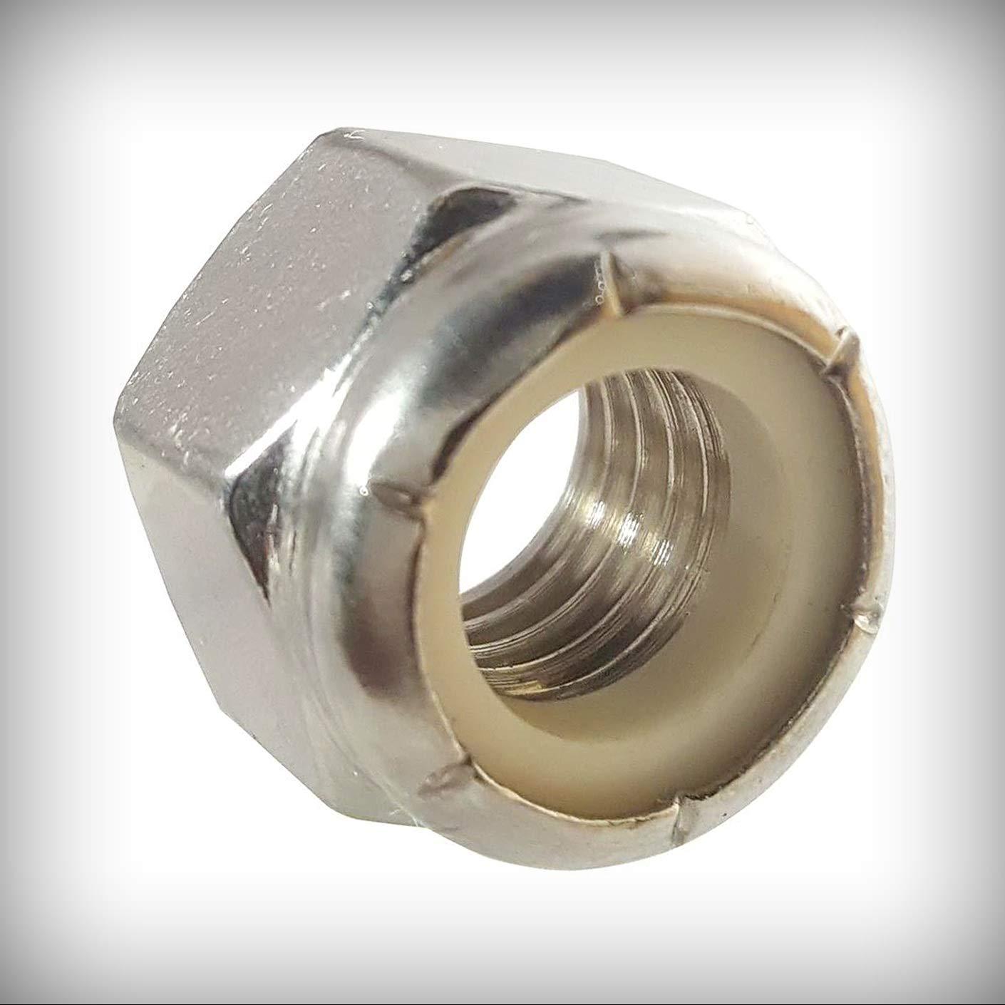 New Lot of 50 Pcs 1-8 Nylon Excellence Elasti Steel 18-8 Stainless Nut Ranking TOP7 Lock