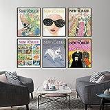 LTXMZ The New Yorker Magazine Leinwanddruck Retro Poster