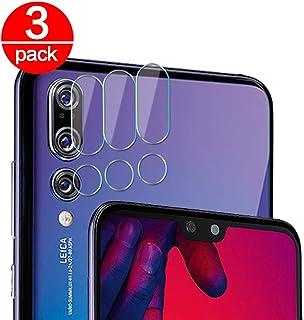 3X Cristal Templado para Lente Cámara de Huawei P20 Pro Ultra Fino Protector 2.5D 9H de Dureza Cámara Trasera Lente Película de Pantalla