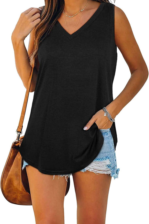 Aukbays Womens T-Shirts Womens Tops V Neck Summer Petal Sleeve Short Sleeve Casual Tshirts Solid Color Basic Shirts