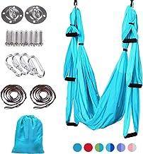 MelkTemn Aerial Yoga Swing Set,Aerial Yoga Hammock Trapeze,Ultra Strong Antigravity Yoga Hammock/Sling/Inversion Tool,Aeri...