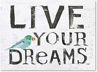 Live Your Dreams by Kellie Day, 18x24-Inch Canvas Wall Art