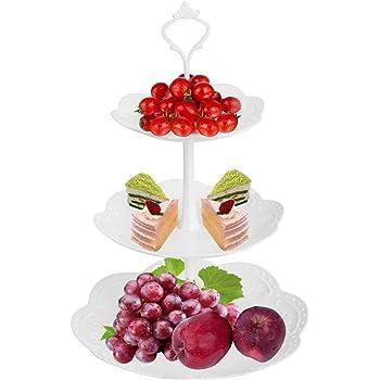 ケーキスタンド 3段 プラスチック 白 パーティー CoiTek