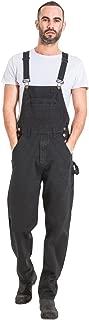 Mens Relaxed Fit Denim Bib Overalls - Black Loose fit Overalls
